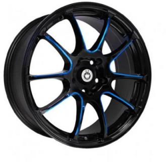 ILLUSION BLACK BLUE BALL CUT MACHINED SPOKES from KONIG WHEELS