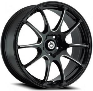 ILLUSION BLACK RIM with MACHINED BALL CUT SPOKES from KONIG WHEELS