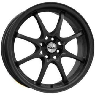 HELIUM MATTE BLACK RIM by KONIG WHEELS
