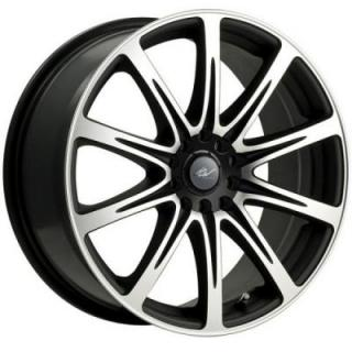 ICW WHEELS  209MB EURO MIRROR MACHINED RIM with GLOSS BLACK ACCENTS