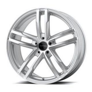 LIQUID METAL WHEELS  CURVE SILVER RIM with MACHINED FACE