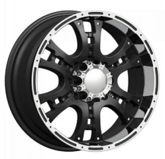 PHINO WHEELS  RUGGET ONE BLACK RIM with MACHINE FACE