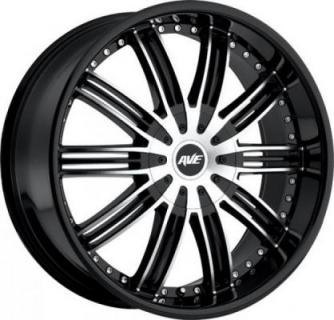 AVENUE WHEELS  A603 BLACK RIM with MACHINED FACE