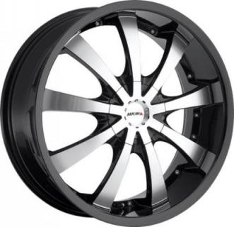 MKW WHEELS  M102 GLOSS BLACK RIM