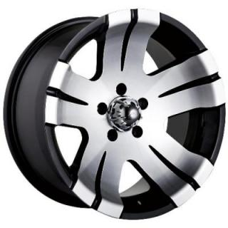 TYPE 138 BLACK RIM with MACHINED FACE from ION ALLOY WHEELS