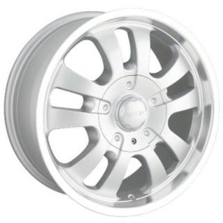 DIP WHEELS  AVENGER D10 SILVER RIM with MACHINED LIP