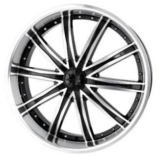 DIP WHEELS  ICE BLACK RIM with MACHINED FACE and LIP