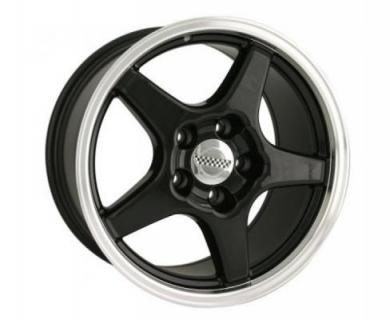 STYLE 840 BLACK RIM with MACHINED LIP from DETROIT WHEELS