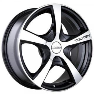 TR9 BLACK RIM with MACHINED FACE from TOUREN WHEELS