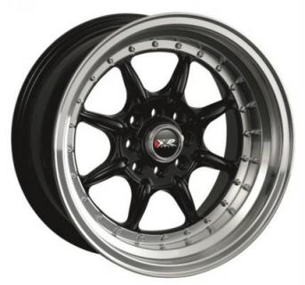 XXR WHEELS  002 BLACK MACHINED