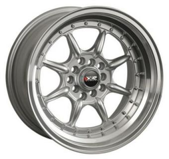 XXR WHEELS  002 HYPER SILVER/MACHINED