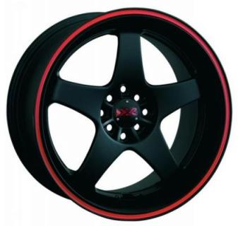 XXR WHEELS  962 FLAT BLACK/RED