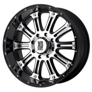 XD SERIES WHEELS  XD795 HOSS GLOSS BLACK RIM with MACHINED FACE