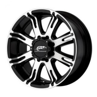 DJ708 RIBELLE MATTE BLACK RIM with MACHINED FACE from DALE EARNHARDT JR WHEELS
