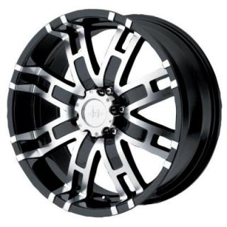 HE835 BLACK MACHINED RIM from HELO WHEELS