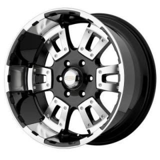 DI 17 KARAT BLACK MACHINED WHEEL from DIAMO WHEELS