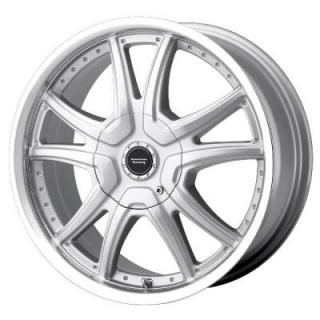 AMERICAN RACING WHEELS  AR607 ALERT SILVER RIM with MACHINED LIP
