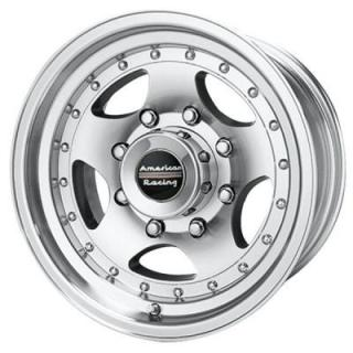 AMERICAN RACING WHEELS  AR23 MACHINED RIM with CLEAR COAT FINISH