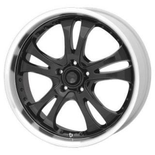 AMERICAN RACING WHEELS  AR393 CASINO BLACK RIM with MACHINED LIP