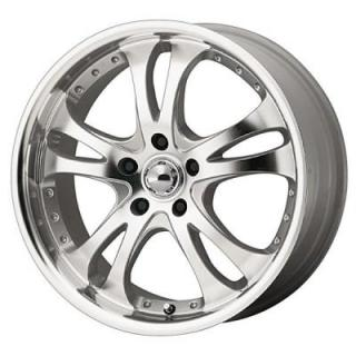 AR383 CASINO SILVER RIM with MACHINED FACE and LIP from AMERICAN RACING WHEELS