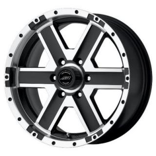 SPECIAL BUY WHEELS  AMERICAN RACING AR681 ELEMENT MATTE BLACK MACHINED PPT
