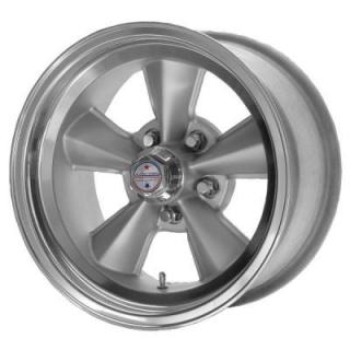 VNT70R GUNMETAL RIM with POLISHED LIP from AMERICAN RACING WHEELS