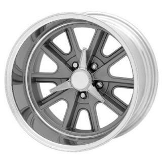 VN427 COBRA GRAY WHEEL with POLISHED RIM from AMERICAN RACING WHEELS