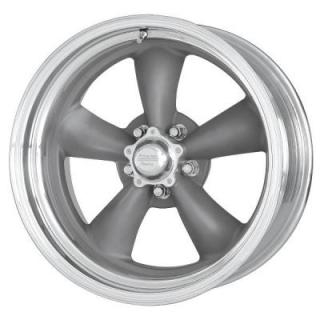VNCL205 CLASSIC TORQ THRUST II GRAY WHEEL with POLISHED RIM from AMERICAN RACING WHEELS