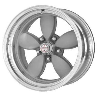 VN402 CLASSIC 200S SILVER WHEEL with POLISHED RIM from AMERICAN RACING WHEELS