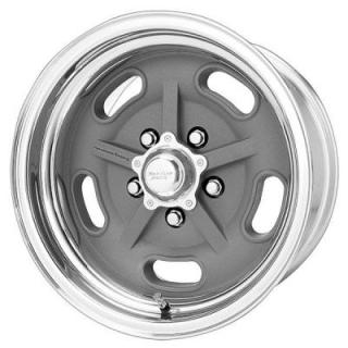 VN470 SALT FLAT SPECIAL GRAY CENTER WHEEL with POLISHED RIM from AMERICAN RACING WHEELS