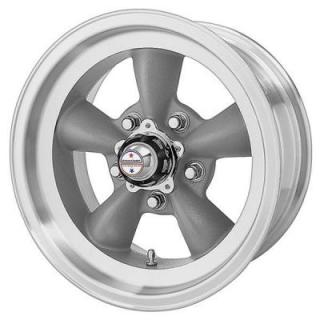 AMERICAN RACING WHEELS  VN105D TORQ THRUST D GRAY RIM with MACHINED LIP