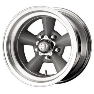 AMERICAN RACING WHEELS  VN309 TORQ THRUST ORIGINAL GREY RIM with MACHINED LIP