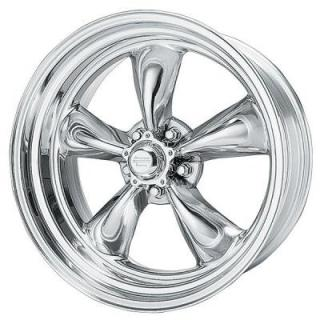 AMERICAN RACING WHEELS  VNC405 TORQ THRUST II (CUSTOM SHOP) CHROME WHEEL with POLISHED RIM