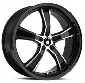 AIRSTRIKE BLACK RIM with MACHINED SPOKES from KONIG WHEELS