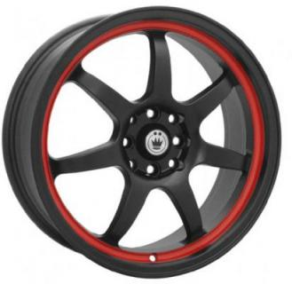 FORWARD MATTE BLACK RED STRIPE from KONIG WHEELS