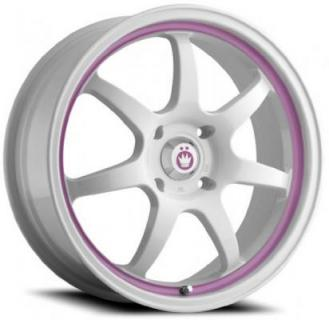 FORWARD WHITE RIM with PINK STRIPE from KONIG WHEELS