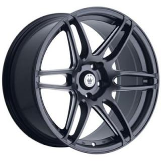 DECEPTION MATTE BLACK RIM with MACHINED SPOKES from KONIG WHEELS