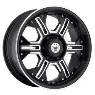 KONIG WHEELS  LOCKNLOAD BLACK RIM with MACHINED FACE