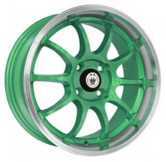 LIGHTNING GREEN RIM with MACHINED LIP by KONIG WHEELS