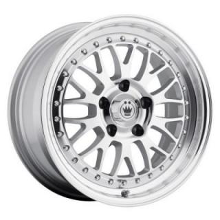 ROLLER SILVER RIM with MACHINED FACE from KONIG WHEELS