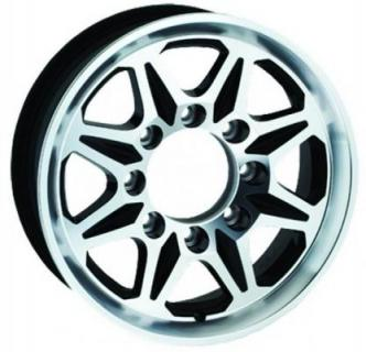 SENDEL WHEELS  T04 TRAILER BLACK MACHINED RIM