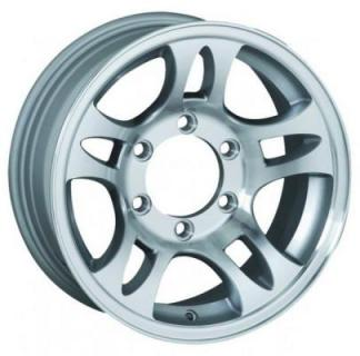 SENDEL WHEELS  T03 TRAILER SILVER MACHINED RIM