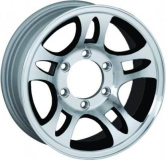 SENDEL WHEELS  T03 TRAILER BLACK MACHINED RIM