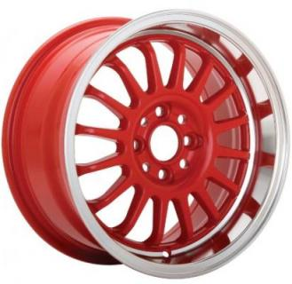 RETRACK RED RIM with MACHINED LIP from KONIG WHEELS