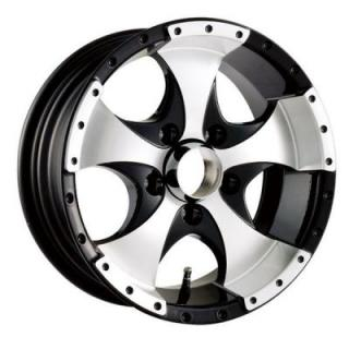ION TRAILER WHEELS  STYLE 136 BLACK TRAILER RIM with MACHINED FACE