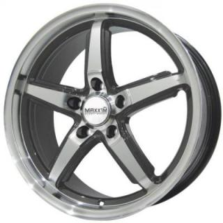 MAXXIM WHEELS  ALLEGRO GRAPHITE RIM with MACHINED FACE
