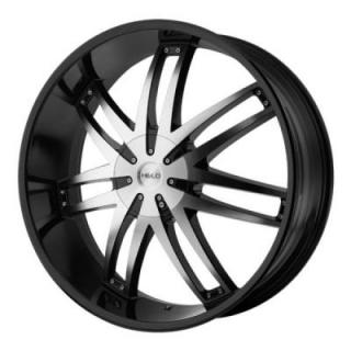 HE868 GLOSS BLACK MACHINED RIM from HELO WHEELS