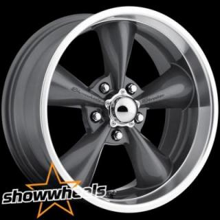 SHOWWHEELS  STREETER GRAY RIM with MACHINED LIP