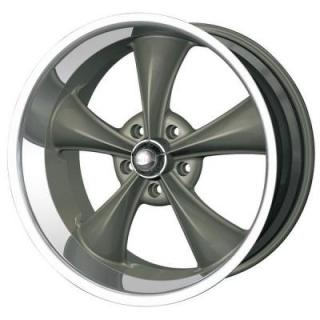HRH CLASSIC ALLOY WHEELS STYLE 695 GREY RIM with MACHINED LIP
