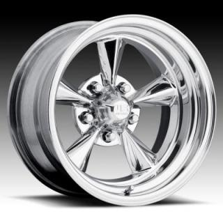 U200 CHROME CENTER with POLISHED OUTER RIM from U.S. INDY MAG WHEELS